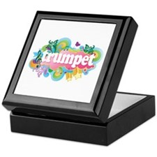 Fun Retro Trumpet Keepsake Box