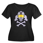 Lil' VonSkully Women's Plus Size Scoop Neck Dark T