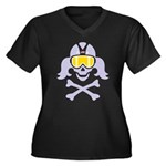 Lil' VonSkully Women's Plus Size V-Neck Dark T-Shi