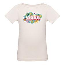 Colorful Retro Violin Organic Baby T-Shirt