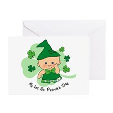 Plaid Boy 1st St. Pat's Greeting Cards (Pk of 10)
