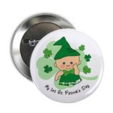"Plaid Boy 1st St. Pat's 2.25"" Button"