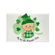 Plaid Girl 1st St. Pat's Rectangle Magnet
