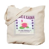 Peace & Karma Tote Bag