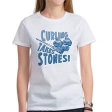 Curling Takes Stones Tee