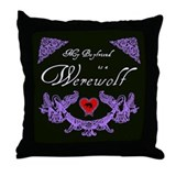 Biyfriend Werewolf Heart Throw Pillow
