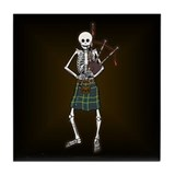Bagpiper Skeleton Tile Coaster