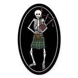 Bagpiper Skeleton Decal