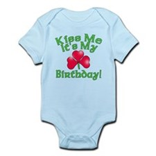 Kiss Me It's My Birthday St. Pat's Infant Bodysuit