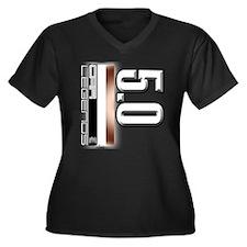MOTOR V5.0 Women's Plus Size V-Neck Dark T-Shirt