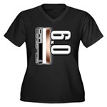 MOTOR V6.0 Women's Plus Size V-Neck Dark T-Shirt