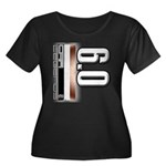 MOTOR V6.0 Women's Plus Size Scoop Neck Dark T-Shi