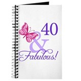 40th Birthday Butterfly Journal