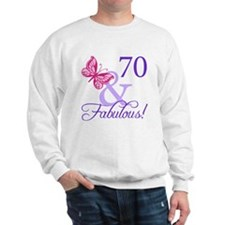 70th Birthday Butterfly Sweatshirt