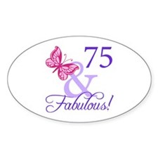 75th Birthday Butterfly Decal
