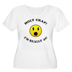 Holy Crap 40th Birthday Women's Plus Size Scoop Ne