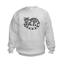 Knot Striped Black Cat Sweatshirt