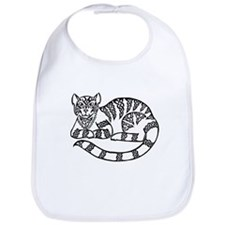 Knot Striped Black Cat Bib