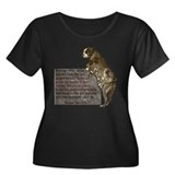 Sgt. Stubby Women's Plus Size Scoop Neck Dark T-Sh