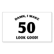 50 Yr Old Gag Gift Decal