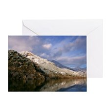 Blue sky reflecting in the water Greeting Card