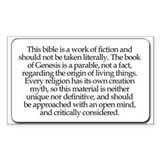 Bible Disclaimer Rectangle Decal
