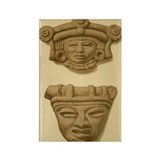Aztec Masks Rectangle Magnet