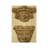 Aztec Masks Rectangle Magnet (100 pack)