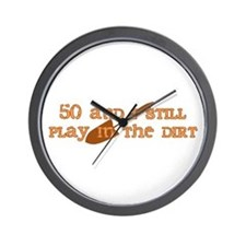 50th Birthday Gardening Wall Clock