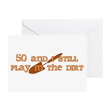 50th Birthday Gardening Greeting Card