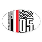 V FLAG 2005 Sticker (Oval 10 pk)