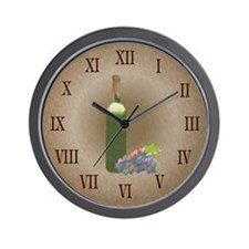 Wine painting Wall Clock