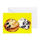Painted Blueberry Muffins Greeting Cards (Pk of 10