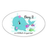 Whale 2nd Birthday Decal