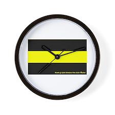 Black & Gold Steelers Fan Wall Clock