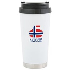 Norway Curling Ceramic Travel Mug