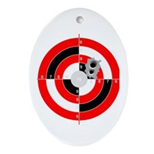 Target Shooting Oval Ornament
