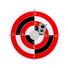"Target Shooting 3.5"" Button (100 pack)"