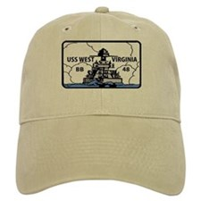 USS West Virginia BB 48 Baseball Cap
