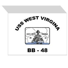 USS West Virginia Image Greeting Cards (Pk of 10)