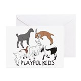 Playful Goat Kids Greeting Cards (Pk of 10)