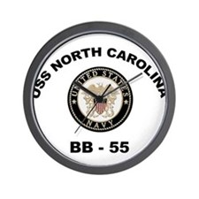 USS North Carolina BB 55 Wall Clock