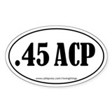 .45ACP Oval Decal