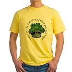 Shamrocks (Gaelic) Yellow T-Shirt