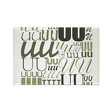 UU Typography (Sage) Rectangle Magnet (10 pack)