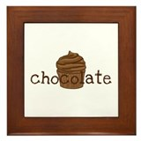 Chocolate Cupcake - Framed Tile