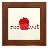 Red Velvet Cupcake - Framed Tile