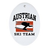 Austrian Ski Team Ornament (Oval)