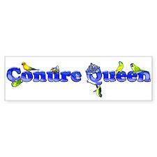 conure queen high rez Bumper Bumper Sticker