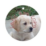 Labs are Love Ornament (Round)